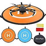 Drone Landing Pad, WisFox Universal Waterproof D 75 cm / 30 '' Pads portátiles...