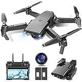 tech rc Drone con Cámara HD 1080P, Drone FPV Plegable Drone Profesional...