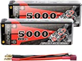 GOLDBAT Lipo RC Batería 5000 mAh 7,4 V 80C 2S RC Batería con Enchufe Deans-T...